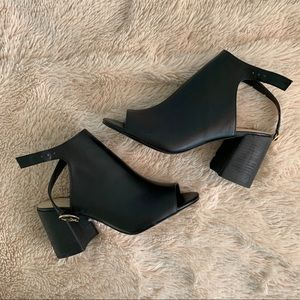 Nine West Black Block Heels